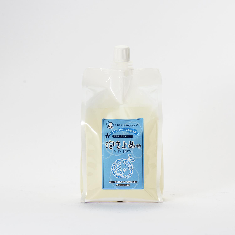 泡きよめ <洗濯用・台所用液体石けん> 1L