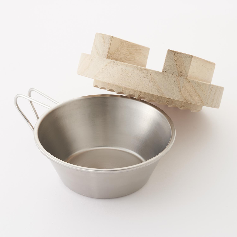 抗菌シェラカップ・木製桐蓋セット